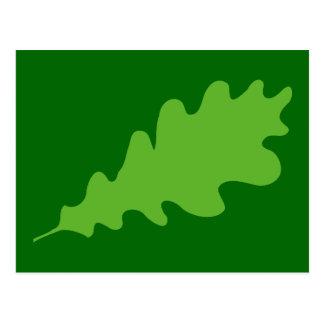 Cartão Postal Folha verde, projeto da folha do carvalho