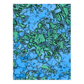 Cartão Postal Folhas 1 do néon