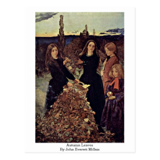 Cartão Postal Folhas de outono por John Everett Millais