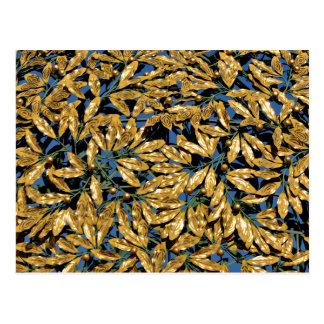Cartão Postal Folhas do louro do ouro