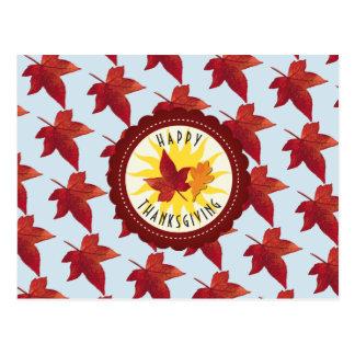 Cartão Postal Folhas felizes do céu e da queda da acção de