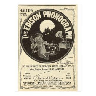 Cartão Postal Fonógrafo de Edison