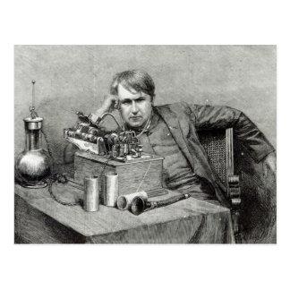 Cartão Postal Fonógrafo novo de Mr.Edison