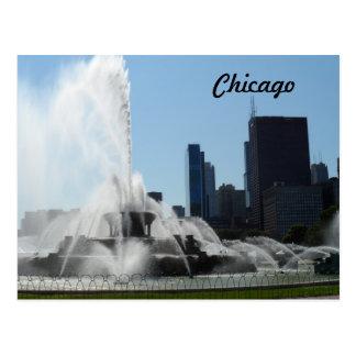 Cartão Postal Fonte de Buckingham - Chicago