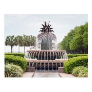 Cartão Postal Fonte do abacaxi de Charleston, South Carolina