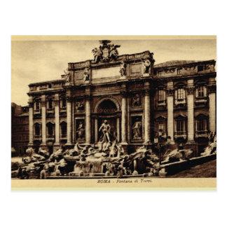 Cartão Postal Fonte do Trevi de Roma