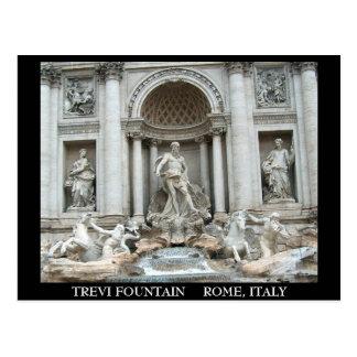 Cartão Postal Fonte do Trevi em Roma, Italia
