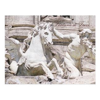 Cartão Postal Fonte do Trevi, Roma