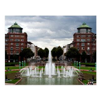Cartão Postal Fonte em Friedrichsplatz, Mannheim, Alemanha