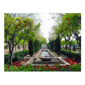 Cartão Postal Fonte espanhola do jardim