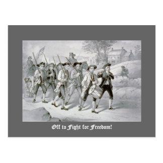 Cartão Postal Fora de para lutar pela liberdade!