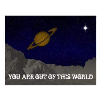Cartão Postal Fora deste mundo