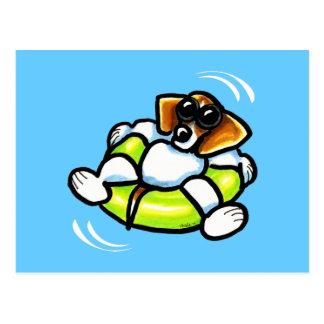 Cartão Postal Fora-Trela legal Art™ do flutuador da piscina do