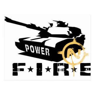 Cartão Postal Forças armadas Canon do poder de fogo