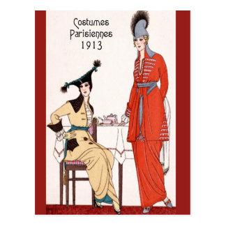 Cartão Postal Forma 1913 parisiense