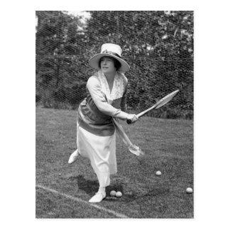 Cartão Postal Forma adiantada do tênis dos 1900s