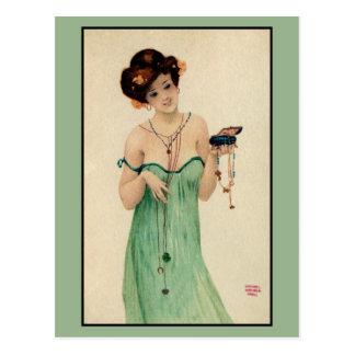 Cartão Postal Forma das senhoras de Raphael Kirchner Paris 1910