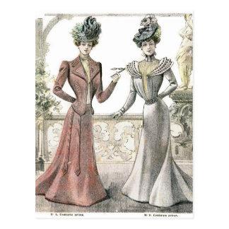 Cartão Postal Forma do francês do Victorian