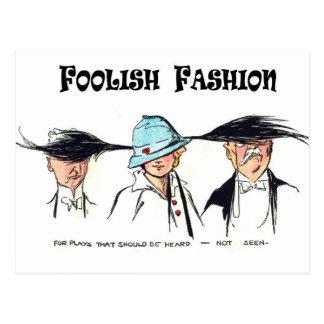 Cartão Postal Forma insensata:  Chapéus estranhos