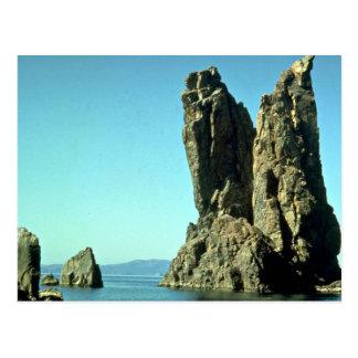 Cartão Postal Formação de rocha do Mar Negro, Crimeia, Rússia
