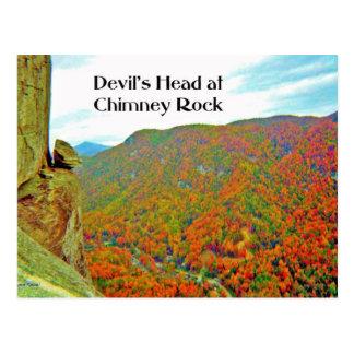 Cartão Postal Formação de rocha principal do diabo sobre a rocha