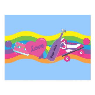 Cartão Postal formação do anos 80