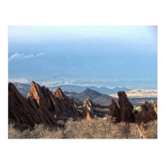 Cartão Postal Formações de rocha - parque estadual de Roxborough