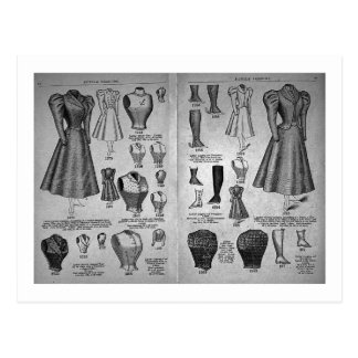 Cartão Postal Formas da bicicleta - catálogo do vintage