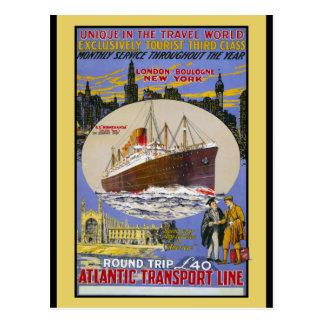 Cartão Postal Forro de oceano atlântico do transporte