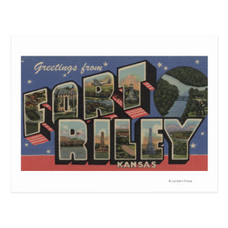 Cartão Postal Fort Riley, Kansas - grandes cenas da letra