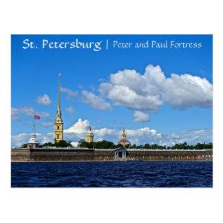 Cartão Postal Fortaleza de St Petersburg, de Peter e de Paul