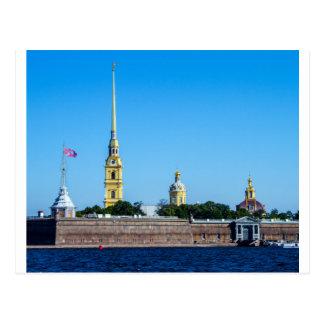 Cartão Postal Fortaleza St Petersburg Rússia de Peter e de Paul