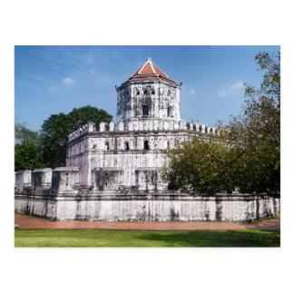 Cartão Postal Forte de Phra Sumen, parque de Satichaiprakan,