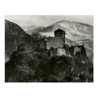 Cartão Postal Forte de vintage de Lourdes de Château, France
