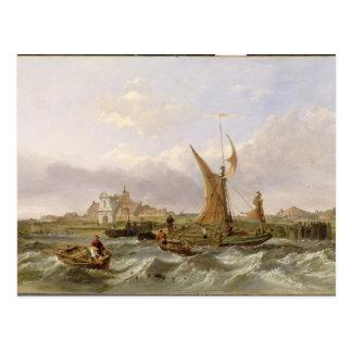 Cartão Postal Forte do Tilbury - vento contra a maré, 1853 (óleo