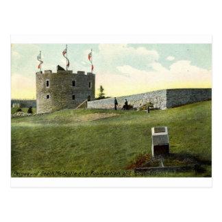 Cartão Postal Forte Henry, vintage 1910 de Maine da praia de