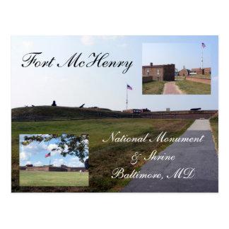 Cartão Postal Forte McHenry