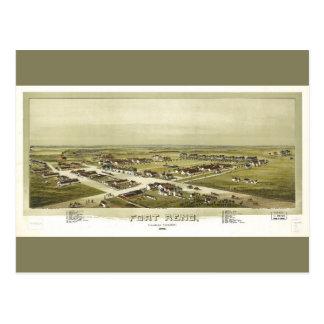 Cartão Postal Forte território de Reno, Oklahoma (1891)