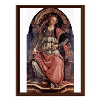 Cartão Postal Fortitudo por Botticelli Sandro (a melhor