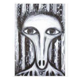 Cartão Postal Fortuna-Caixa longo do nariz (retrato impar do