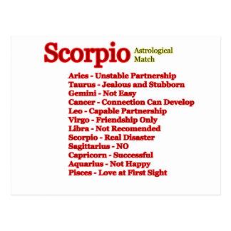 Cartão Postal Fósforo astrológico da Escorpião os presentes de