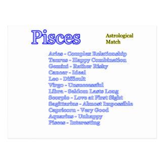 Cartão Postal Fósforo astrológico dos peixes os presentes de