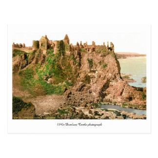Cartão Postal Foto antiga do castelo de Antrim Dunluce do