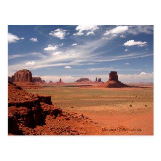 Cartão Postal Foto bonita do vale do monumento na arizona