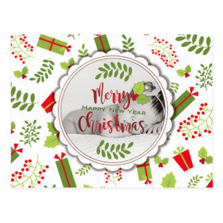 Cartão Postal Foto bonita dos presentes do roteiro do Natal