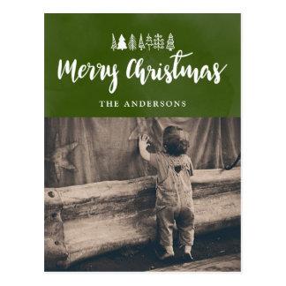 Cartão Postal Foto branca do roteiro | do Feliz Natal