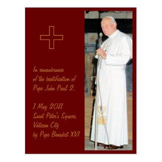 Cartão Postal Foto customizável do papa John Paul 2