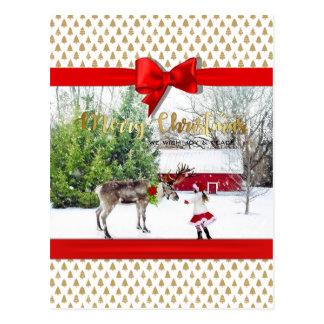 Cartão Postal Foto da alegria e da paz do Natal