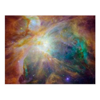 Cartão Postal Foto da astronomia da nebulosa de Orion