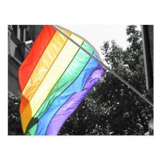 Cartão Postal Foto da bandeira de LGBT
